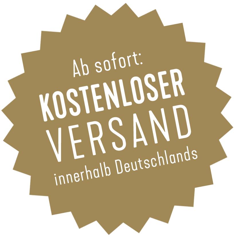 Kosenloser Versand innerhalb Deutschlands